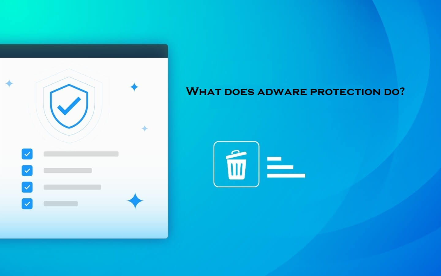 What does adware protection do?